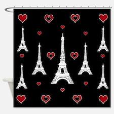 Trendy I Love Paris Shower Curtain