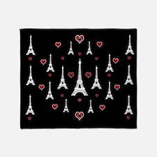 Trendy I Love Paris Throw Blanket