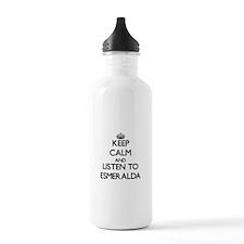 Keep Calm and listen to Esmeralda Water Bottle