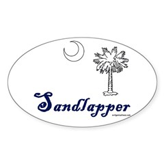 south Carolina sandlapper Oval Decal