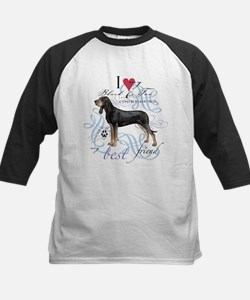 Black and Tan Coonhound Baseball Jersey