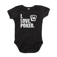 I Love Poker Baby Bodysuit