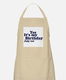 July 1 Birthday BBQ Apron