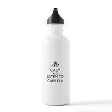 Keep Calm and listen to Gabriela Water Bottle