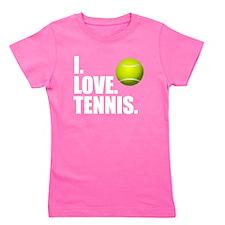 I Love Tennis Girl's Tee
