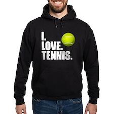 I Love Tennis Hoodie