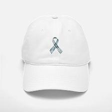 Trisomy Awareness Words Ribbon Baseball Baseball Baseball Cap