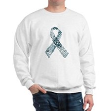 Trisomy Awareness Words Ribbon Sweatshirt