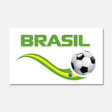 Soccer Brasil Car Magnet 20 x 12