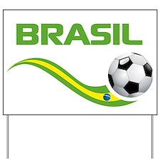 Soccer Brasil Yard Sign