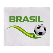 Soccer Brasil Throw Blanket