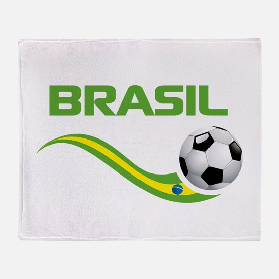 Soccer Brasil Throw Blanket