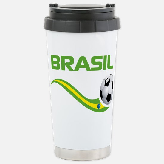 Soccer Brasil Travel Mug