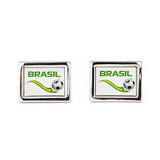 Soccer Brasil Cufflinks