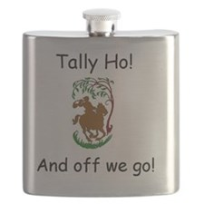 Tally Ho! Fox Hunting on Horseback Flask