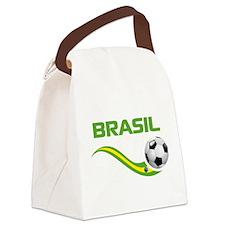 Soccer Brasil Canvas Lunch Bag