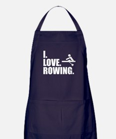 I Love Rowing Apron (dark)