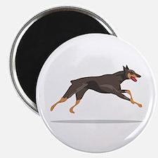 """Running Doberman 2.25"""" Magnet (100 pack)"""