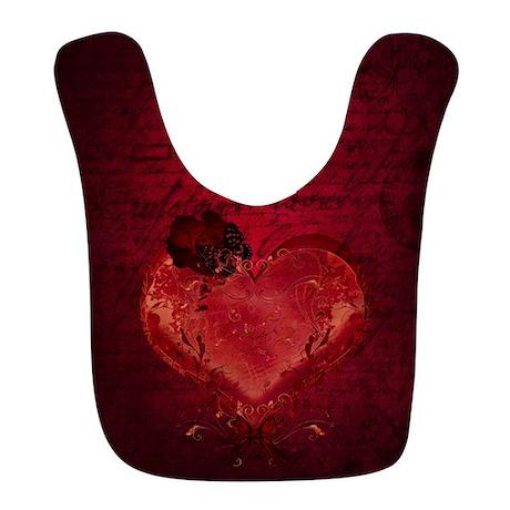 Red Love Letter Bib by gatterwe