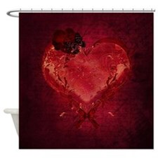 Red Love Letter Shower Curtain