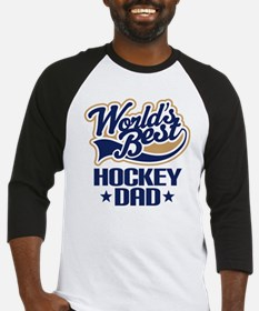 Hockey Dad (Worlds Best) Baseball Jersey