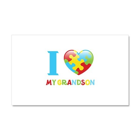 I Love My Grandson Car Magnet 20 x 12