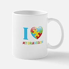 I Love My Grandson Mugs