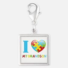 I Love My Grandson Charms
