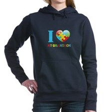 I Love My Grandson Hooded Sweatshirt