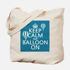 Keep Calm and Balloon On Tote Bag