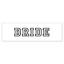BRIDE Bumper Car Sticker