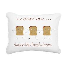 Dancing Toast Rectangular Canvas Pillow