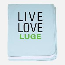 Live Love Luge baby blanket