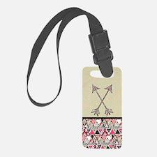 Retro Tribal Arrows Vintage Eart Luggage Tag