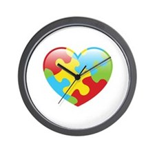 Autism Heart Wall Clock