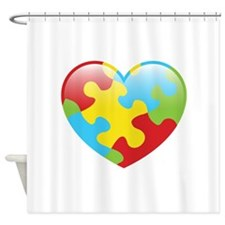 Autism Heart Shower Curtain