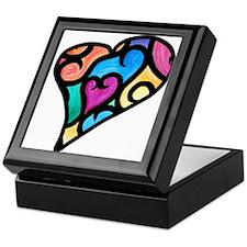 Abstract Heart Keepsake Box
