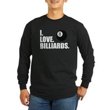 I Love Billiards Long Sleeve T-Shirt