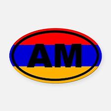 Armenia AM Flag Oval Car Magnet