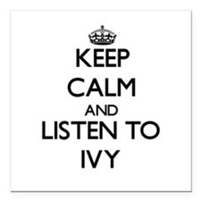 """Keep Calm and listen to Ivy Square Car Magnet 3"""" x"""