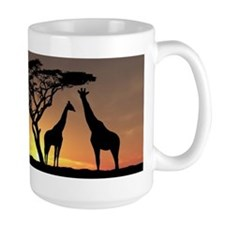 Giraffes In The Sunset Mugs