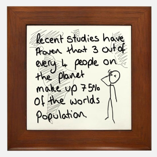 Statistics Joke Framed Tile