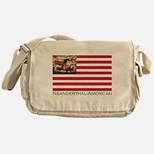 Neanderthal-American Flag Messenger Bag