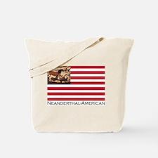 Neanderthal-American Flag Tote Bag