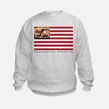 Neanderthal-American Flag Sweatshirt