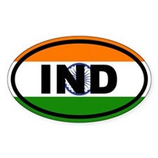 India Flag IND Decal
