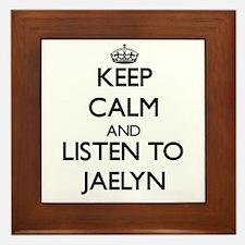 Keep Calm and listen to Jaelyn Framed Tile
