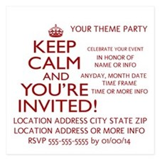 Personalize Keep Calm Invitations Invitations