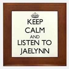 Keep Calm and listen to Jaelynn Framed Tile