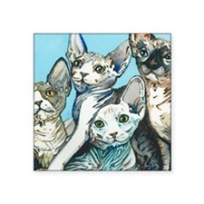 "Sphynx Kittens Square Sticker 3"" x 3"""